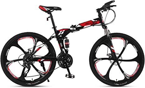 WZB Bicicleta de montaña 21/24/27 Velocidad Marco de Acero 24 Pulgadas Ruedas Plegables de 3 radios Bicicleta Plegable, 3,27 velocidades: Amazon.es: Deportes y aire libre