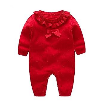 Amazon.com: Auro Mesa - Ropa de punto para bebé, color rojo ...