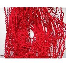 Lyracces Wholesale Lots 50yards Mini Woven Zigzag Rick Rack Ribbon Ric Rac Trims Scrapbooking Dressmaking (3mm, Red)