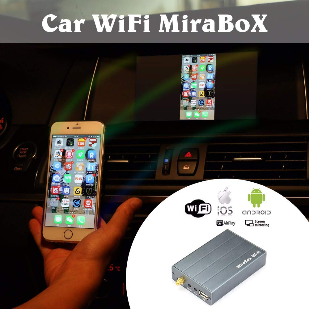 Mirabox Car WiFi Mirrorlink Box,Wireless Airplay, Miracast, Allshare Cast,  Screen Mirroring for Smart Phones, RCA Output for Car Video (HSV280 Car