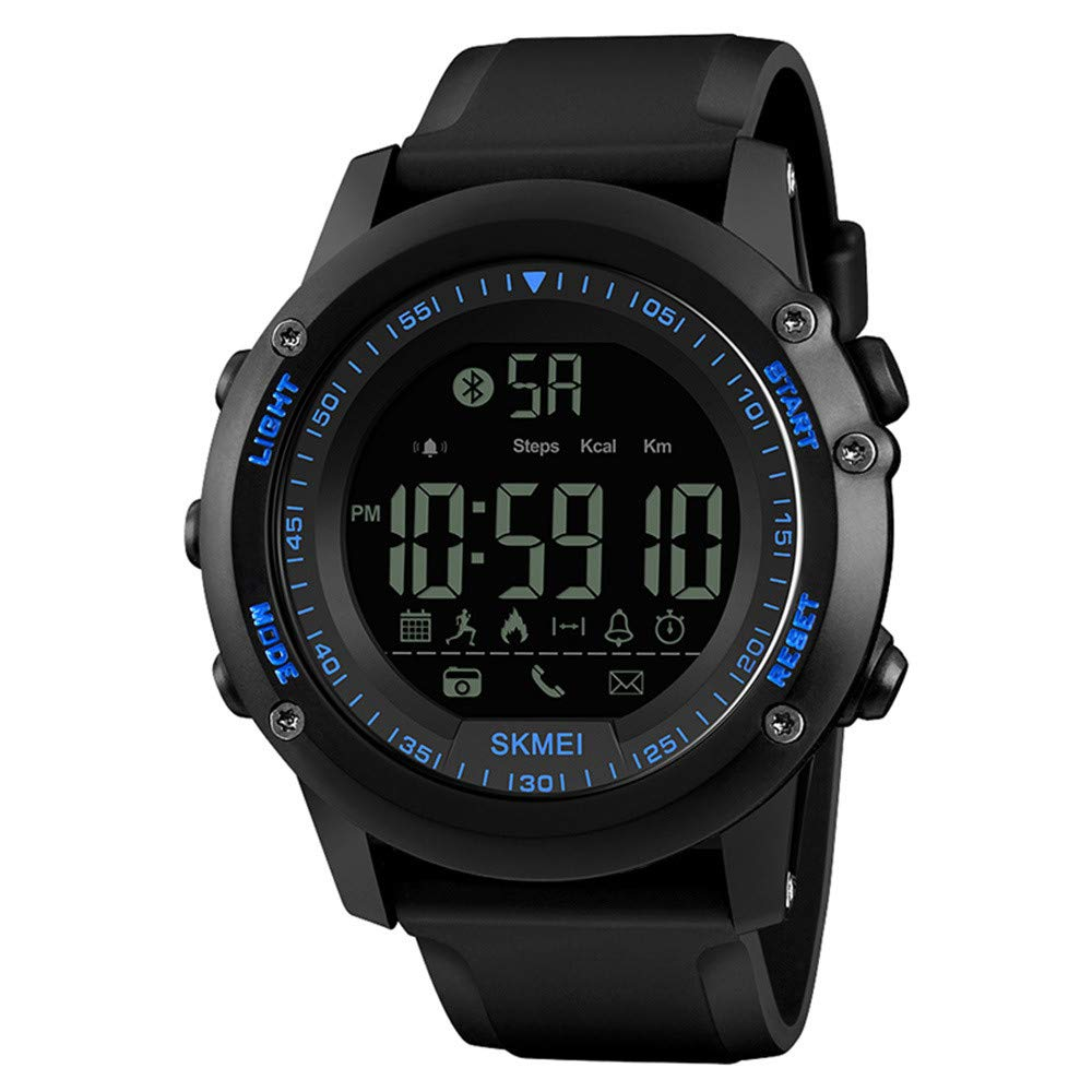 Amazon.com: Fashion Sport Smart Watch Men Pedometer 5Bar ...