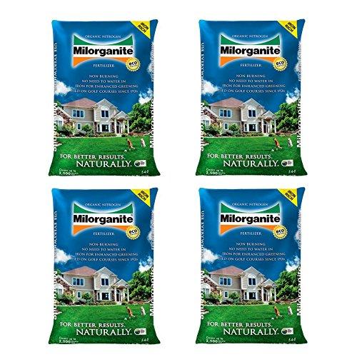 Milorganite Organic Nitrogen Fertilizer, 32-Pound - (4 Bags)