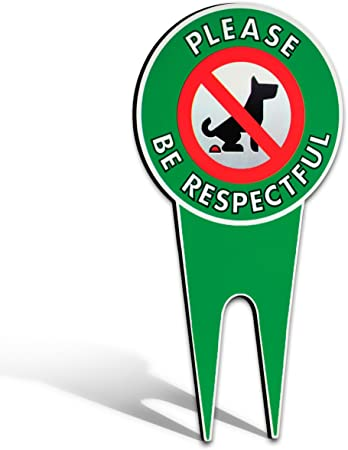 Signs Authority Two No Peeing DogStop Dogs Bundle of 2