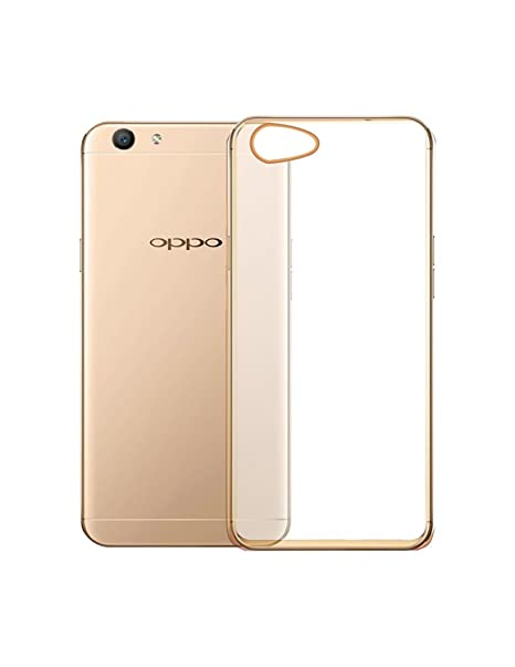 new arrival dc099 bcd19 OPPO A57 Transparent Back Cover with Golden Border: Amazon.in ...