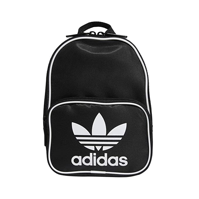 478240aacd9 Amazon.com: adidas Originals Santiago Mini Backpack, Black, One Size ...