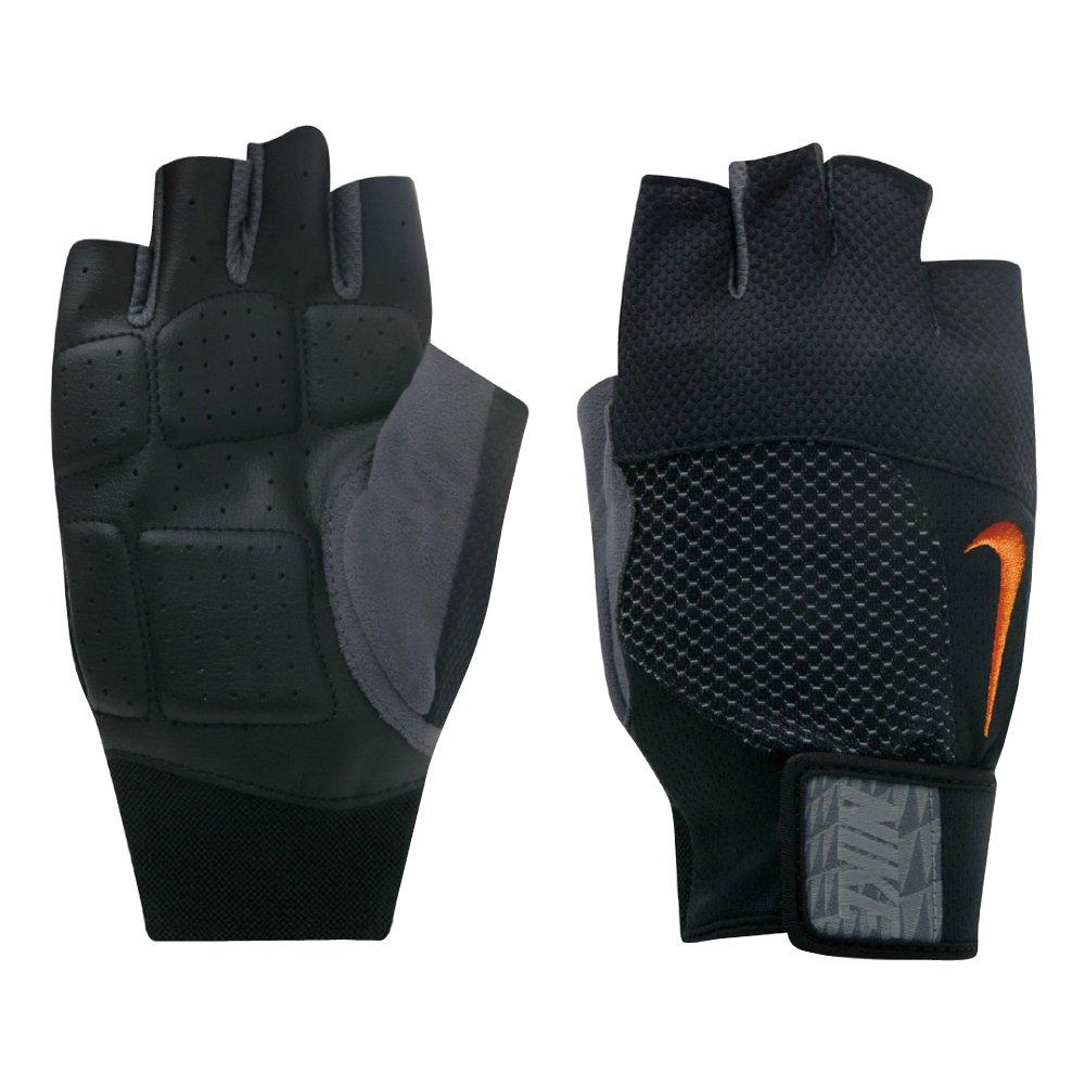 Nike Men's Lock Down Training Gloves (Medium, Black/Total Orange)