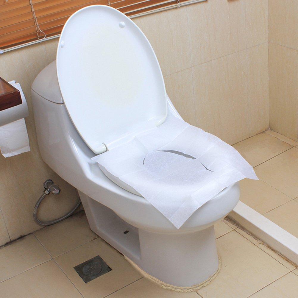 SuBoZhuLiuJ Toilet Seat Cover,10 Sheets Disposable Toilet Seat Cover Mat Travel Portable Toilet Paper Pad