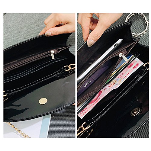 Shoulder Gold Crossbody Quilted Cross Waterproof Fashion NOTAG Leather Bag Handbag Body Clutch PU Grey Chain Envelope SqwwPxU