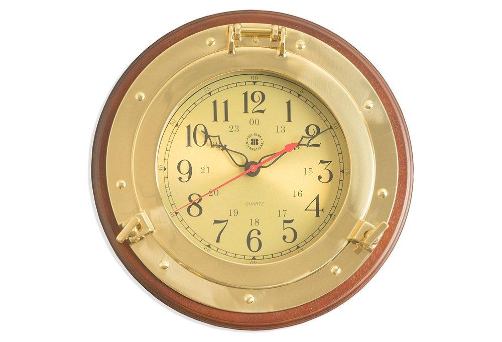Brass Porthole Wall Clock - Nagina International