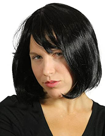 My Costume Wigs Womens Pulp Fiction Wig - Mia Wallace (Black) One Size fits