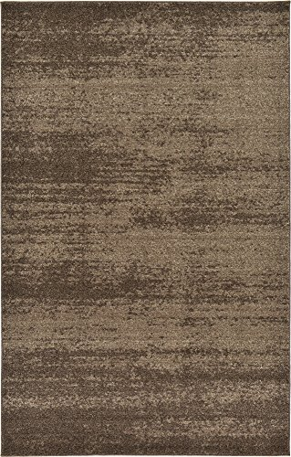 Unique Loom Del Mar Collection Contemporary Transitional Brown Area Rug (5' 0 x 8' 0) Brown Transitional Area Rug