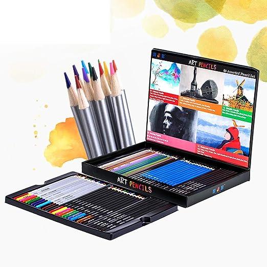 BUG-L Color Hecho Mano en Caja, 60 LáPices, Sketch Set LáPices ...