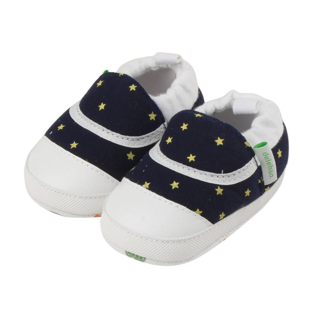 Amiley Baby Infant Toddler Cartoon Rubber Sole Crib Shoes Slippers Prewalker 0-24 Months