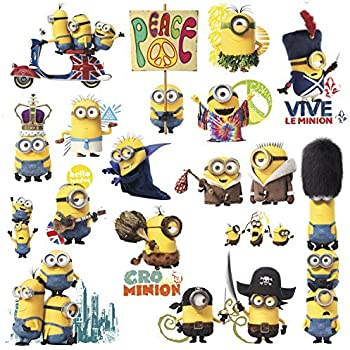 Minions Movie 16 Big Wall Decals Despicable Me Room Decor Stickers Decorations