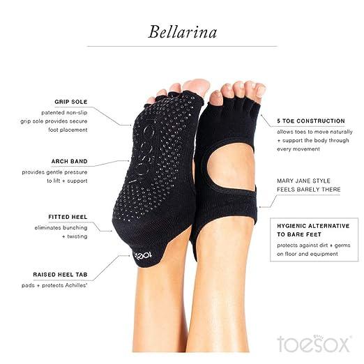 Amazon.com: Toesox Grip - Calcetines de yoga para pilates ...