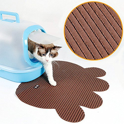 Vndaxau Cat Litter Trapper Mat Waterproof,Kitty Mat for Litter Box Large Size,Soft On Paws,Scatter Control,Easy to Clean…