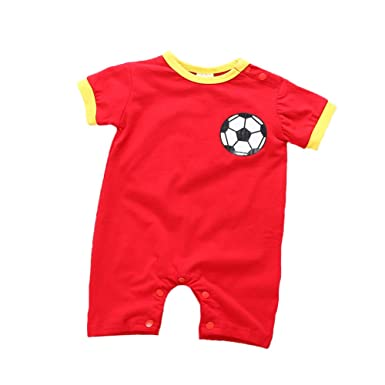 c910ff2c124 Amazon.com: Fairy Baby Newborn Soccer Superstar Football Soccer Summer  Outfit: Clothing
