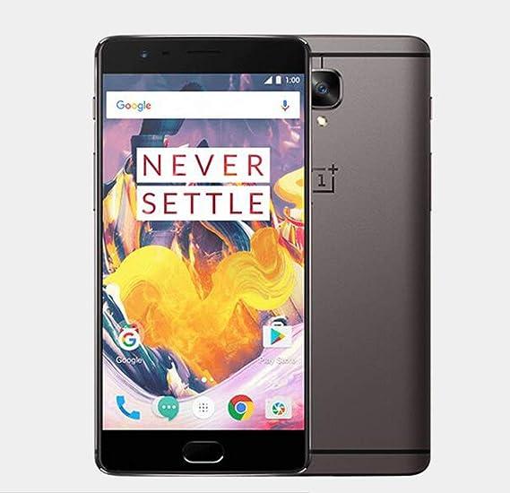 OnePlus 3T Smartphone 64GB Gunmetal A3003 [versión de la UE] con Dash Charger (6GB RAM, Snapdragon 821, USB Type-C, LTE) 5,5 pulgadas: Amazon.es: Electrónica