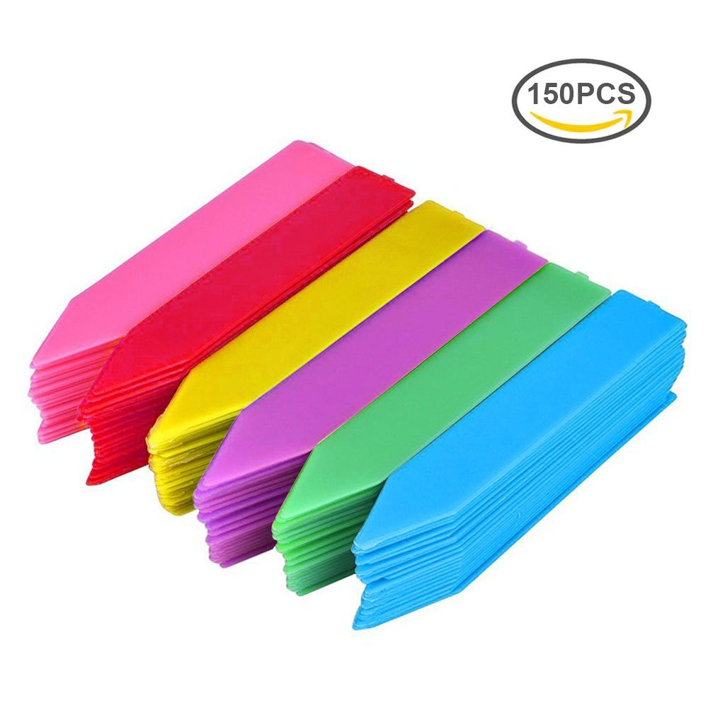 100PCS Plant Labels Markers, 4 Inch White Plastic Plant Garden Tags, Nursery Garden Stake Tags G2PLUS