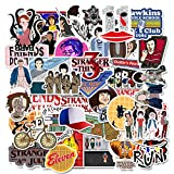 Stranger Things Stickers Pack(50 Pcs) Laptop and Water Bottle Decal Waterproof Vinyl Stickers for Teens, Girls, Women Skateboard Motorcycle Bicycle Mobile Phone Luggage Guitar DIY Decal