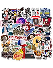 Stickers voor vreemde dingen (75 stuks) voor laptop en waterfles, waterdichte vinylstickers voor jongeren, meisjes, vrouwen, skateboard, motorfiets, fiets, mobiele telefoon, bagage, gitaar, doe-het-zelfstickers