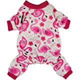 Fitwarm Flamingo Pet Clothes for Dog Pajamas PJS Shirts Jumpsuit Pink