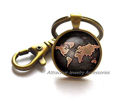 Amazon world map keychain globe keychain earth map jewelry world map keychain globe keychain earth map jewelry world map key ring travel key ring travel gumiabroncs Gallery