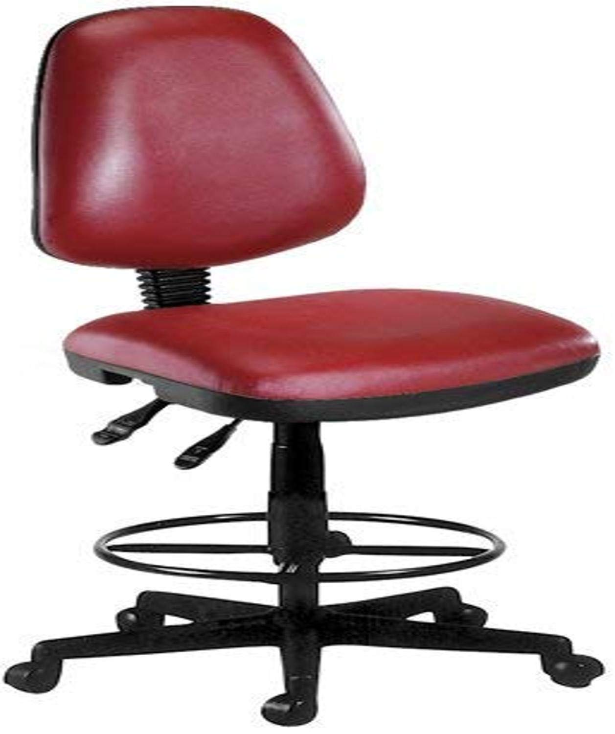 OFM Straton Series Anti-Microbial//Anti-Bacterial Vinyl Task Chair with Drafting Kit