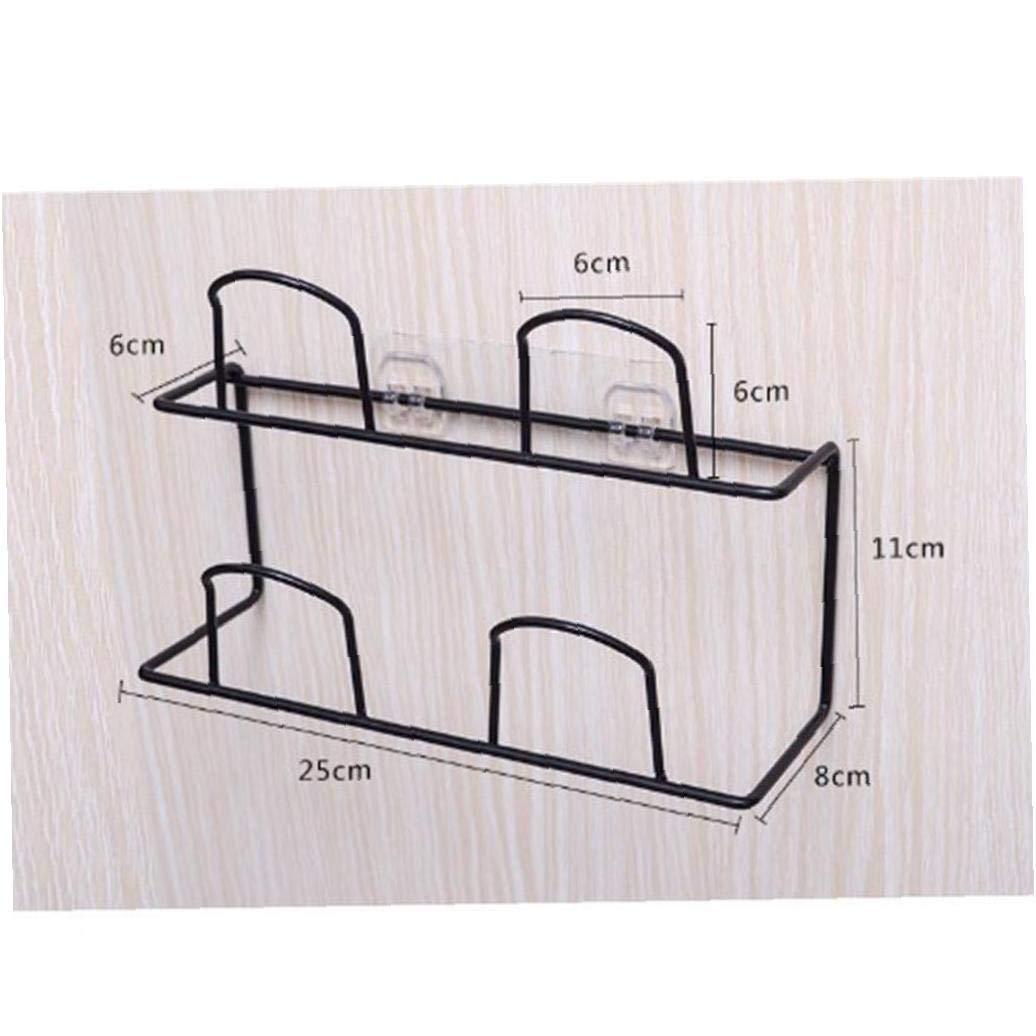 Bongles Doppia Appendiabiti a Muro Scarpe Ripiano Slipper Porta Organizzatore Pantofole Hanging Shelf
