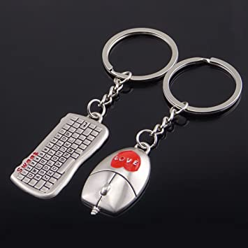 Amazon.com  Ugood 1PC Mouse And Keyboard Model Keychain Outdoor Key Ring  Pendant Keyring Gift  Beauty de236a564c8b