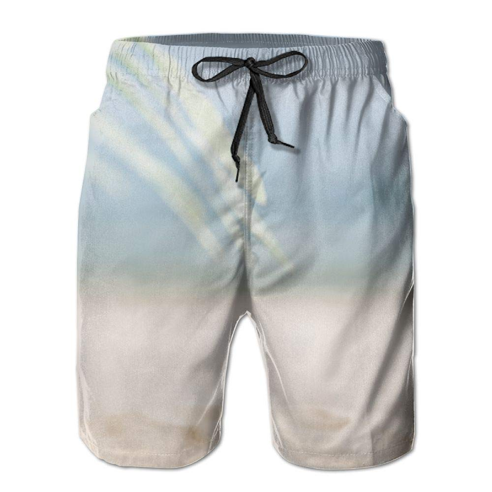 Jieruikam Man Shorts Fine Sand Quick-Dry Beach Swim Trunks High Waisted Board Pants M