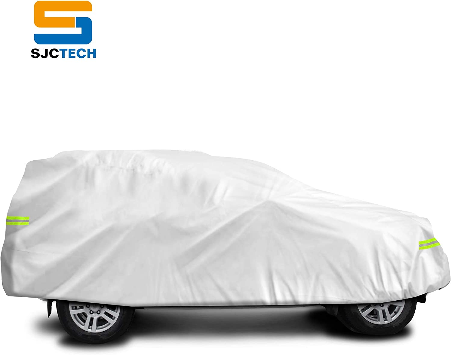 210x70x47 in SJC Full Car Cover Universal Fit Up to Sedan//Car Automobile Cover TC Silver Waterproof Protection for Dust Rain Sun Snow Outdoor Auto Cover