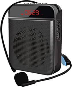 N/J Amplificador De Voz Bluetooth, Amplificador De Voz Inalámbrico Altavoz Bluetooth, Amplificador De Voz, Micrófono Auricular Altavoz para Profesores Canto Instructores De Fitness Guías Turísticos