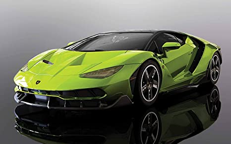 Amazon Com Scalextric C3957 Lamborghini Centenario Lime 1 32 Slot