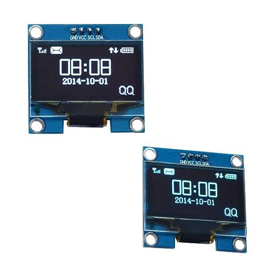 Lordpoll 1.3 Pulgadas 4 Pines I2C IIC Serie 128X64 OLED LCD Módulo ...
