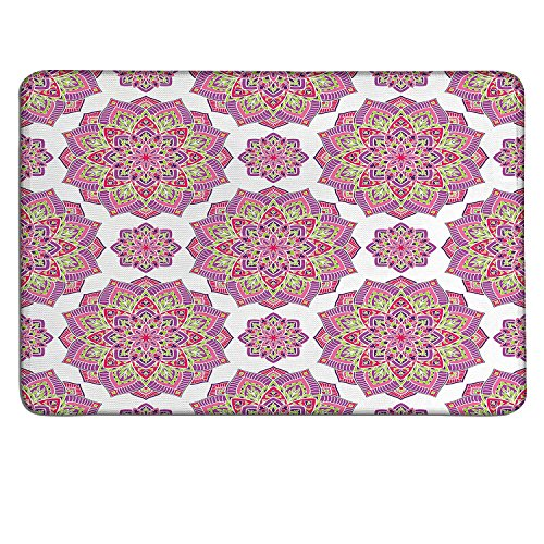 Purple Mandala gaming mouse pad Shabby Chic Lotus Flower Style Meditation Essence Patterncustomizable mouse pad Lime Green Fuchsia Pink White