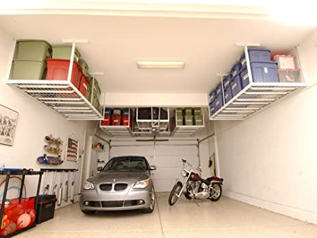 TUFFRAX Super Heavy Duty 4u0027x8u0027 Garage Overhead Ceiling Rack (Capacity: 1500