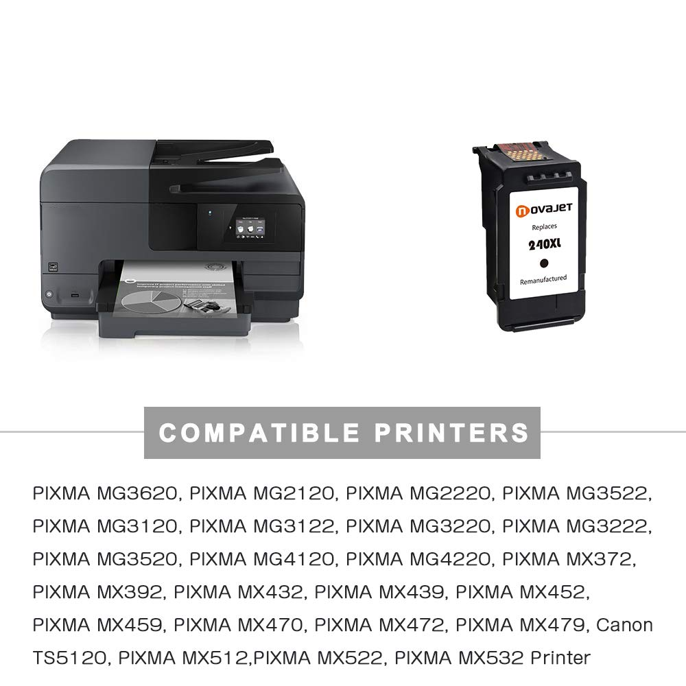 Amazon.com: Novajet - Cartucho de tinta remanufacturado de ...