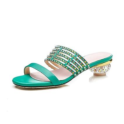 Zapatos De Pantuflas Y Verano Sandalias Confort Mujer Cuero qP6fZq
