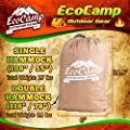 EcoCamp Portable Camping Hammock Single & Double - Lightweight, Heavy-Duty, Parachute Nylon-Easy Hanging Outdoor Hammock - Free Bonus Camping Pillow - for Backpacking, Travel, The Beach, Your Backyard
