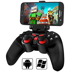 Android Bluetooth Game Controller, BEBONCOOL Bluetooth Gamepad, Wireless Phone Controller (For Android Phone / Tablet / TV Box / Samsung Gear VR) Gear VR Controller