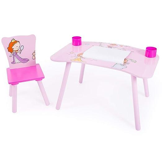 Décoshop26 Escritorio Mesa de Dibujo para niños con Silla + Rollos ...