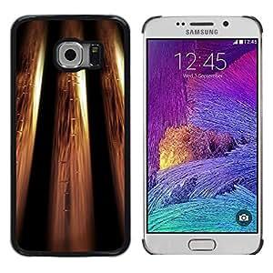 Stuss Case / Funda Carcasa protectora - Metallic Bling Design Wallpaper Golden - Samsung Galaxy S6 EDGE SM-G925