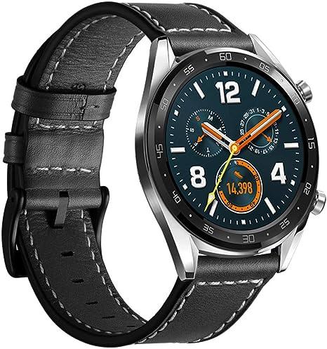 Amazon.com: Correa de cuero compatible con Huawei GT de ...