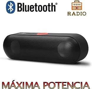 Altavoz Bluetooth 6W,Unicview NBY18 con Radio Negro Estéreo ...