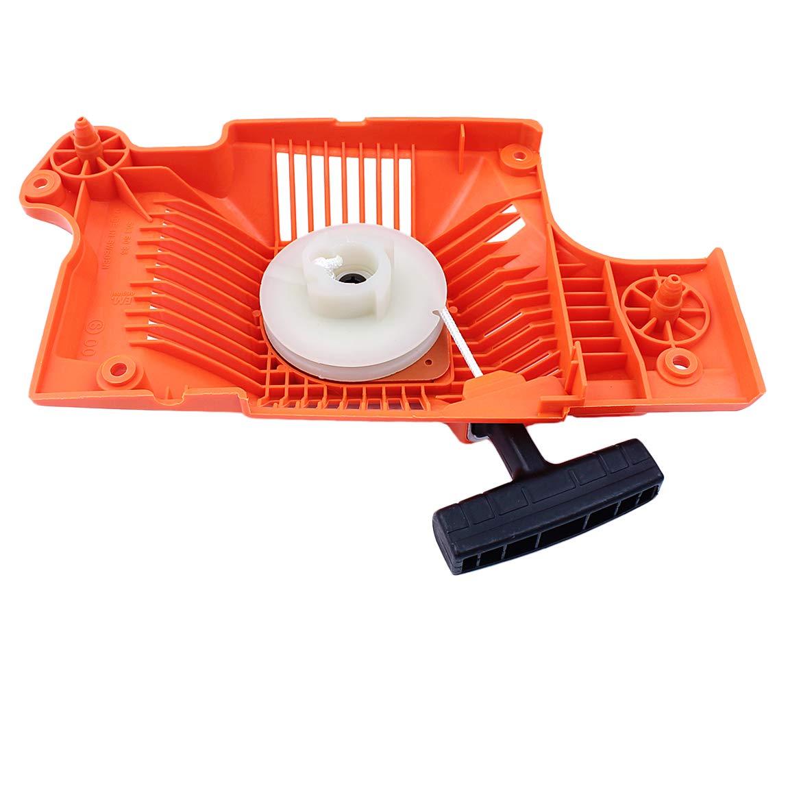 50 Haishine Kit de Servicio de la Cuerda de la manija de Resorte de la polea del ensamblaje de Retroceso del arrancador para Husqvarna 55 Ranchero 51 55 Piezas de Repuesto de Motosierra