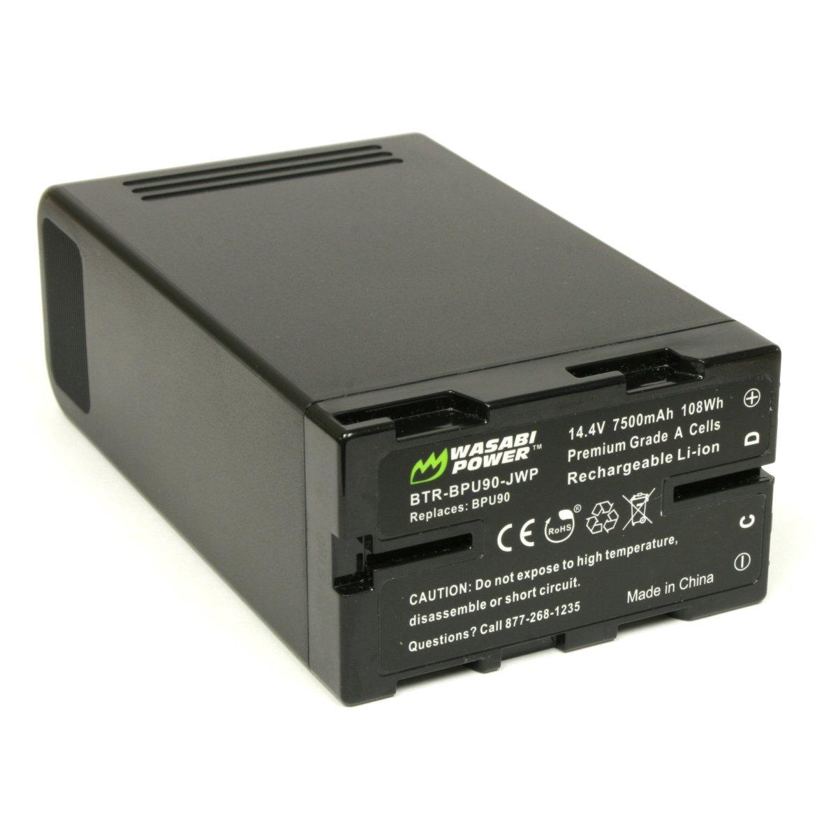 Wasabi Power Battery for Sony BP-U90 (14.4V, 7500mAh, 108Wh) and Sony PMW-100, PMW-150, PMW-160, PMW-200, PMW-300, PMW-EX1, PMW-EX1R, PMW-EX3, PMW-EX160, PMW-EX260, PMW-EX280, PMW-F3, PXW-FS5, PXW-FS7