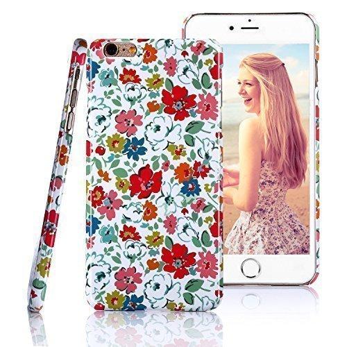 iphone 6 Plusケース、Freetop®スタイリッシュ[牧歌的なスタイル] iPhone 6 Plus用耐久性のあるスリムなポータブル保護カバースキン(5.5インチ) - 色とりどりの花   B017U127PC