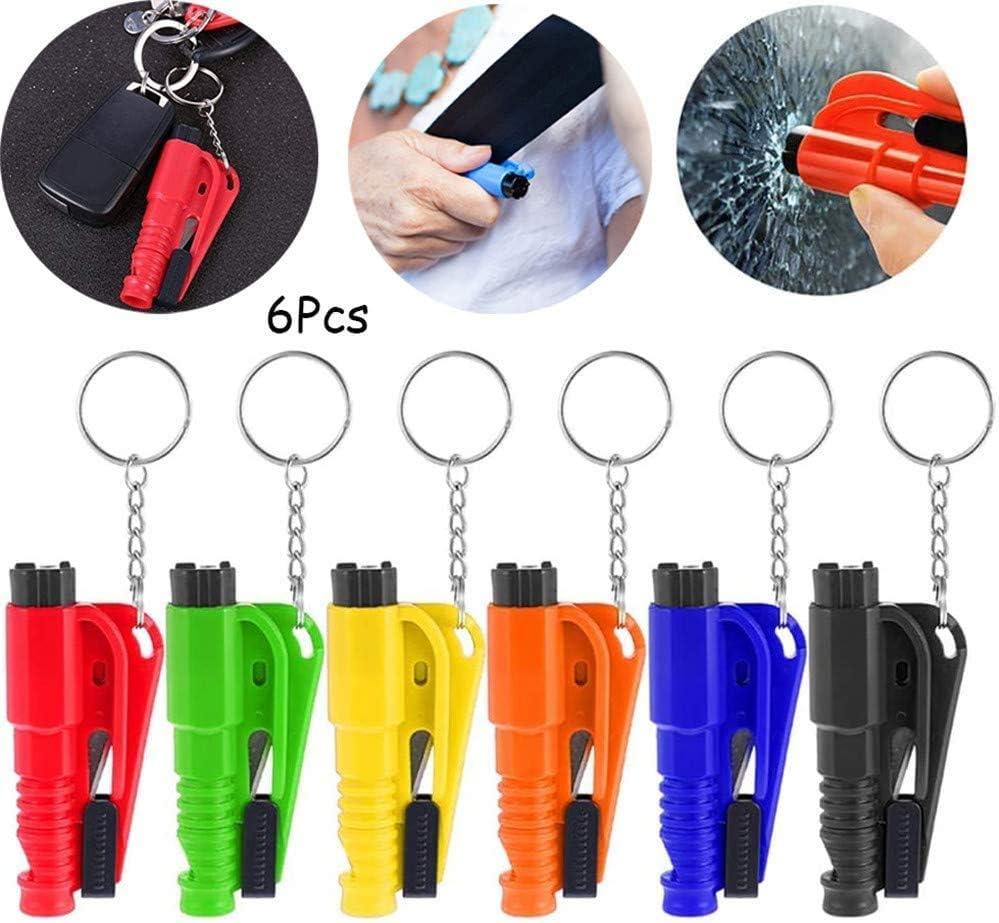 porte-cl/és coupe-ceinture de s/écurit/é pour brise-vitres 3Pcs outil d/évacuation de marteau compact de s/écurit/é de voiture portable Porte-cl/és 3 en 1 pour la vie de la voiture