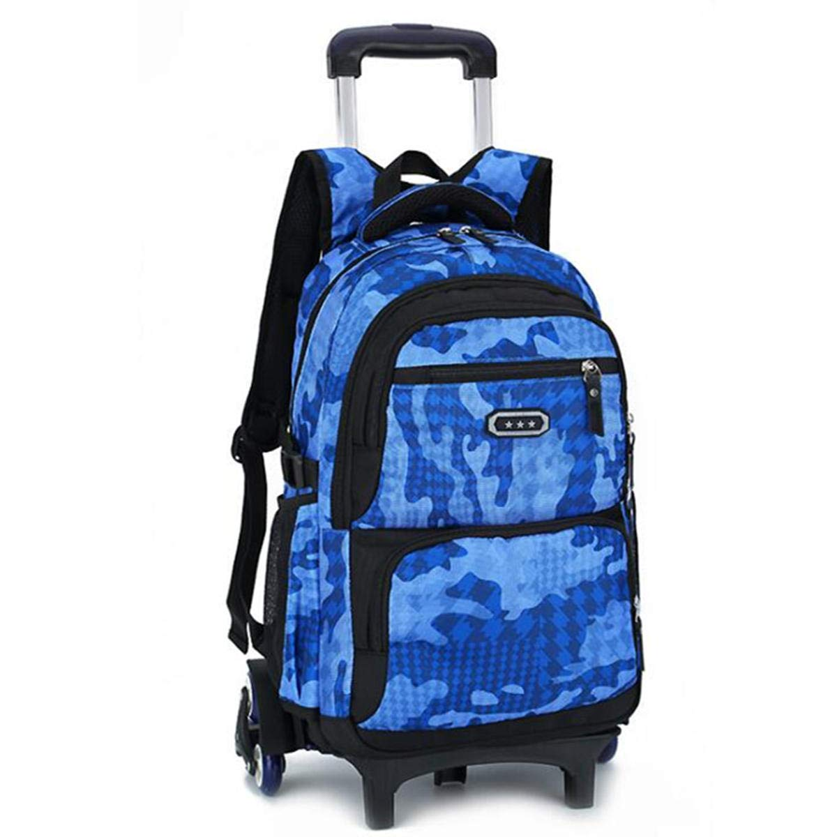 F.S.M. 29L Detachable Wheels Trolley Luggage Backpack Travel Rucksack Teenager Student School Bag Pack - Sky Blue B by F.S.M.